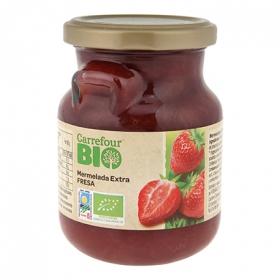 Mermelada de fresa categoía extra ecológica Carrefour Bio 280 g.