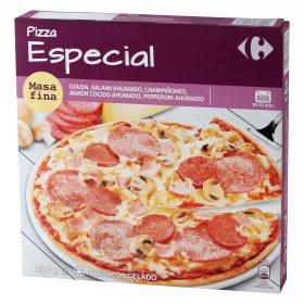 Pizza Especial Masa Fina Carrefour 350 g.