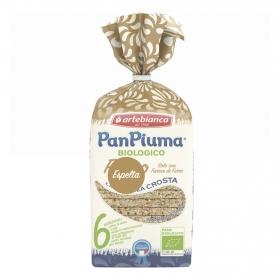 Pan de molde de espelta sin corteza ecológico Pan Piuma 300 g.