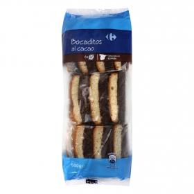 Bocaditos al cacao Carrefour 500 g.