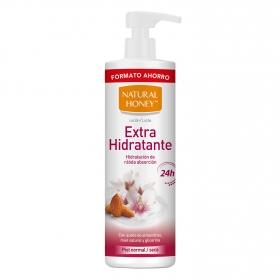 Loción corporal hidratante para piel normal y seca Natural Honey 700 ml.
