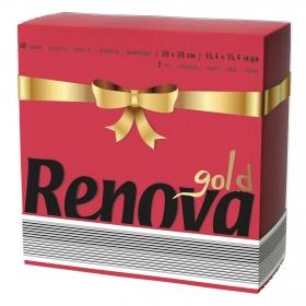Servilletas rojas 2 capas de celulosa Renova 40 ud.