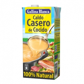 Caldo casero de cocido 100% Natural Gallina Blanca 1 l.