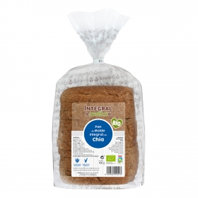Pan de molde con chía integral ecológico Ecocesta 400 g.