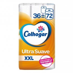 Papel higiénico ultra suave XXL Colhogar 36 rollos.