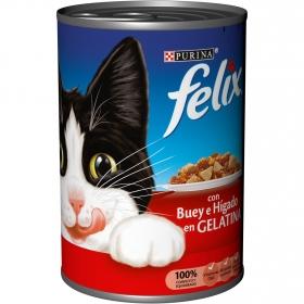 Comida para gatos con Hígado y Buey