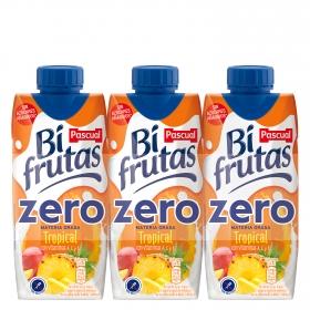Zumo tropical Bifrutas zero pack de 3 briks de 33 cl.