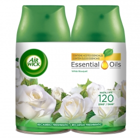 Ambientador automático Fresh Matic White Bouquet Pack recambio Air Wick 2 ud.