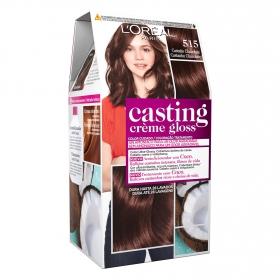 Tinte Créme Gloss nº 515 Castaño Chocolate L'Oréal Casting 1 ud.