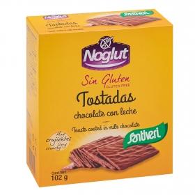 Tostadas bañadas en chocolate con leche Santiveri Noglut sin gluten 102 g.