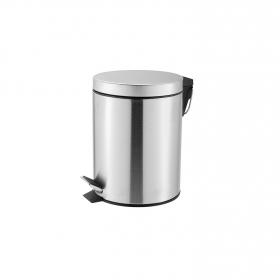 Papelera de baño  de Acero 16,5cm Metalizado