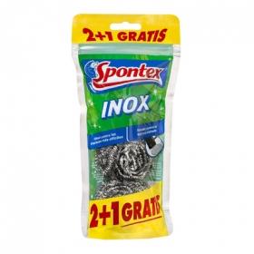 3 Estropajos Inox  Spontex