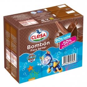 Batido bombón sin azúcares añadidos pack de 6 briks de 200 ml.