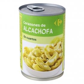 Corazones de alcachofa categoría primera Carrefour 240 g.