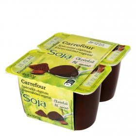 Yogur de soja con chocolate
