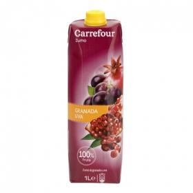 Zumo de granada y uva Carrefour brik 1 l.