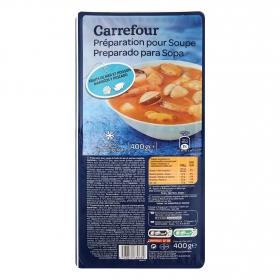 Preparado para sopa de marisco y pescado Carrefour 400 g.