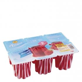 Gelatina sabor fresa sin azúcar Reina pack de 6 unidades de 100 g.