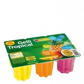 Gelatina sabor variado Reina sin gluten pack de 6 unidades de 100 g.