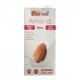 Bebida de almendra sin azúcar EcoMil sin gluten y sin lactosa brik 1 l.