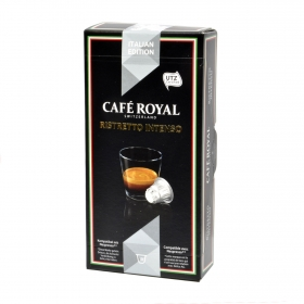 Café ristretto intenso en cápsulas compatible con Nespresso