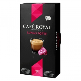 Café lungo forte en cápsulas compatible con Nespresso