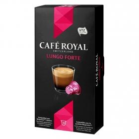Café lungo forte en cápsulas Royal compatible con Nespresso 10 unidades de 5,3 g.