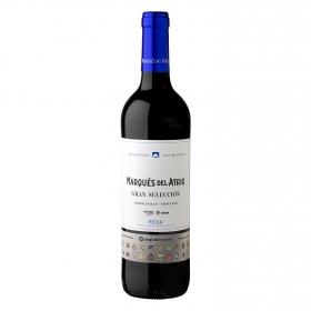 Vino D.O. Ca Rioja tinto tempranillo gran selección Marqués de Atrio 75 cl.