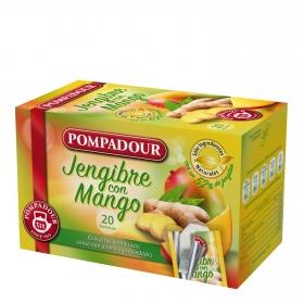 Infusión de jengibre y mango en bolsitas Pompadour 20 ud.