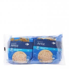 Tortitas de arroz Carrefour pack de 4 unidades de 33 g.