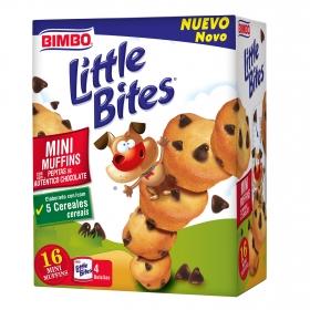 Mini muffins con pepitas de chocolate Bimbo 188 g.