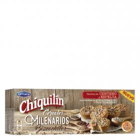 Bizcochitos de centeno y cereales milenarios Chiquilín 4 uidades de 18 g.