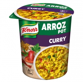 Arroz Pot al curry Knorr 87 g.