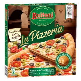 Pizza aceitunas y tomate cherry La Pizzeria Buitoni 365 g.
