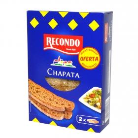 Tostadas pan chapata Recondo 167 g.