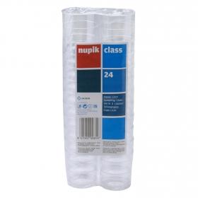 24 Vasos de Plástico NUPIK  40 cl- Transparente