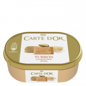 Helado de turrón de Jijona Carte D'or 750 ml.