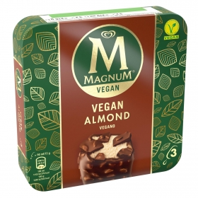 Bombón helado Vegan Almond Magnum pack de 3 unidades de 72 g.