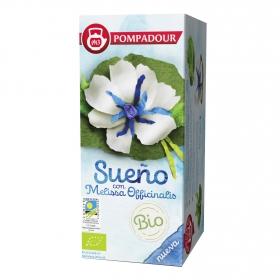 Infusión sueño con melisa en bolsitas ecológica Pompadour 18 ud.