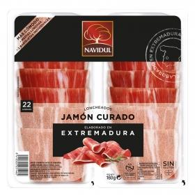 Jamón Curado Lonchas Navidul sin gluten pack de 2 unidades de 80 gr.