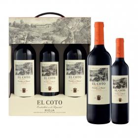 LOTE 68: 2 botellas D.O. Ca. Rioja El Coto tinto crianza 75 cl. + 1 botellas D.O. Ca. Rioja El Coto tinto crianza 50 cl. pack 3 botellas.