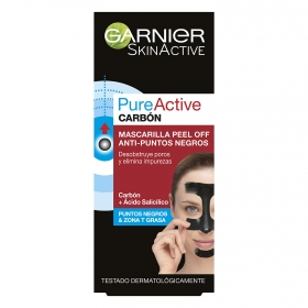 Mascarilla peel off anti-puntos negros Garnier-Skin Active 1 ud.