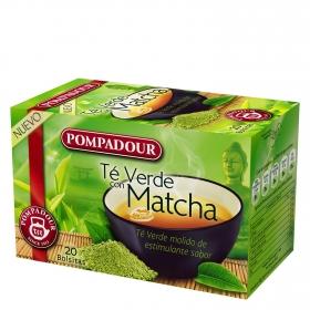 Té verde con matcha en bolsitas Pompadour 20 ud.