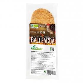 Hamburguesa vegetal a la barbacoa ecológica Soria Natural pack de 2 unidades de 80 g.