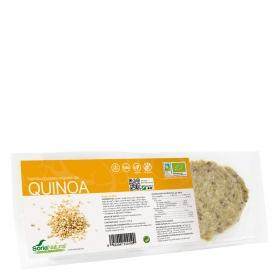 Hamburguesa vegetal a la quinoa ecológica Soria Natural pack de 2 unidades de 80 g.
