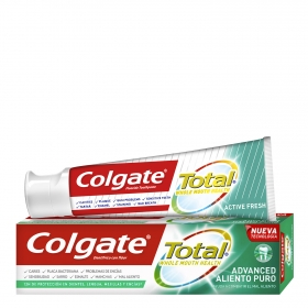 Dentífrico Total aliento puro Colgate 75 ml.