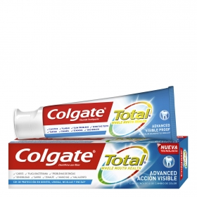 Dentífrico Total acción visible Colgate 75 ml.