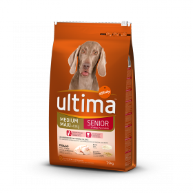 Ultima Pienso para Perro Adulto Medium - Maxi Sabor pollo y arroz 7,5kg.