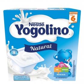 Yogur Natural desde 6 meses Nestlé Yogolino sin gluten pack de 4 unidades de 100 g.