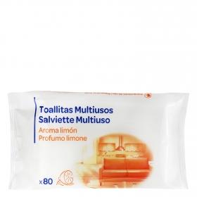 Toallitas multiusos aroma limón-cítrico 80 ud.